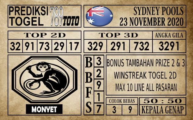 Prediksi Sydney Pools Hari Ini 23 November 2020