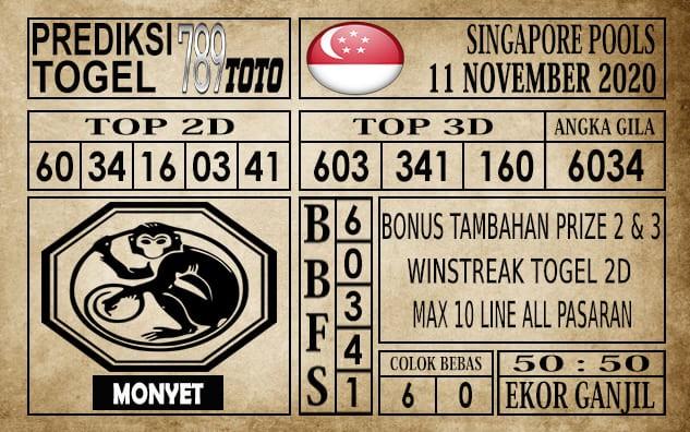 Prediksi Singapore Pools Hari ini 11 November 2020