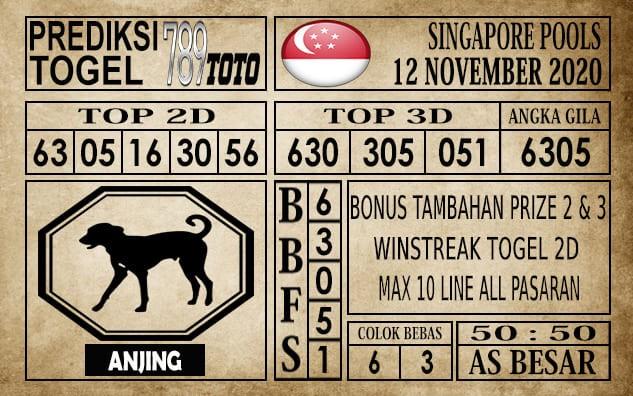 Prediksi Singapore Pools Hari ini 12 November 2020