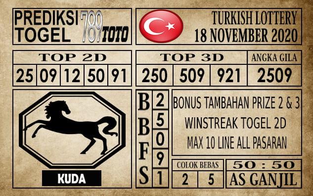 Prediksi Turkish Lottery Hari Ini 18 November 2020