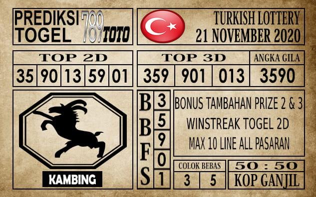 Prediksi Turkish Lottery Hari Ini 21 November 2020