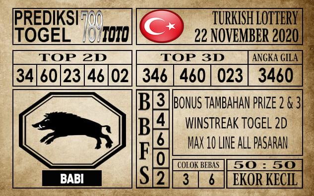 Prediksi Turkish Lottery Hari Ini 22 November 2020