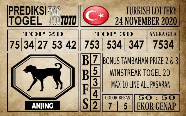 Prediksi Turkish Lottery Hari Ini 24 November 2020