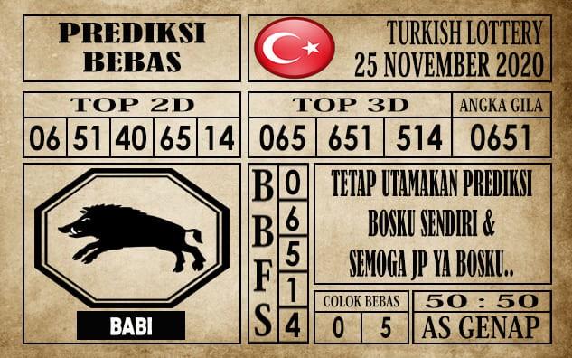 Prediksi Turkish Lottery Hari Ini 25 November 2020