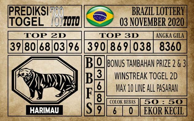 Prediksi Brazil Lottery Hari Ini 03 November 2020