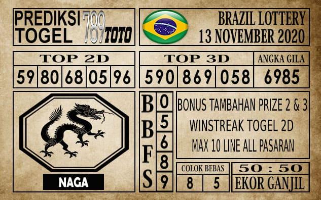 Prediksi Brazil Lottery Hari Ini 13 November 2020