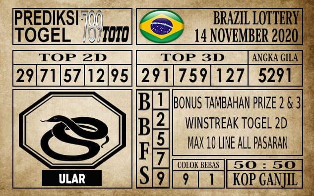 Prediksi Brazil Lottery Hari Ini 14 November 2020