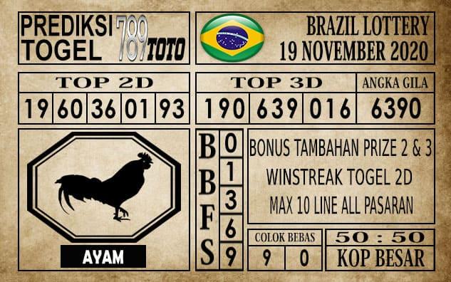 Prediksi Brazil Lottery Hari Ini 19 November 2020