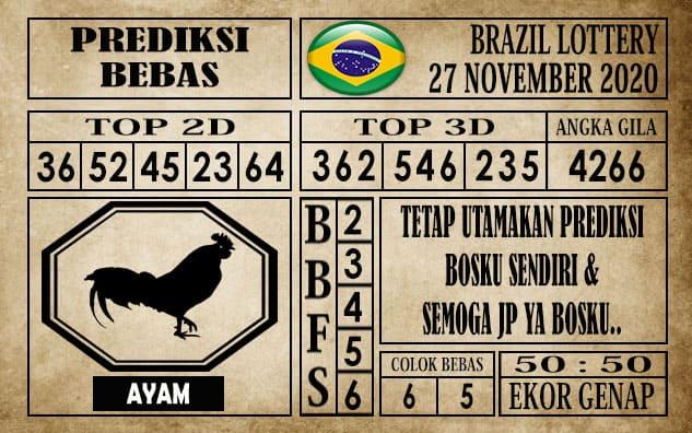 Prediksi Brazil Lottery Hari Ini 27 November 2020