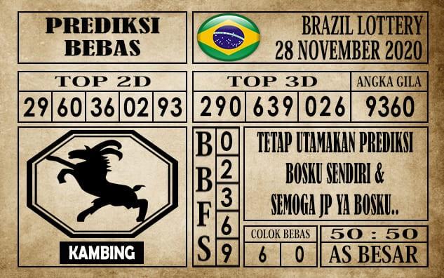 Prediksi Brazil Lottery Hari Ini 28 November 2020