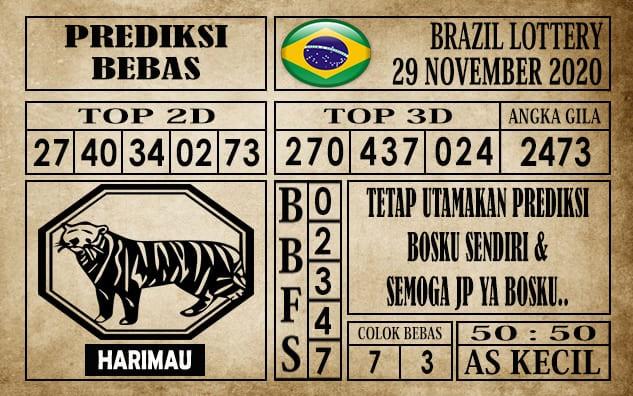 Prediksi Brazil Lottery Hari Ini 29 November 2020