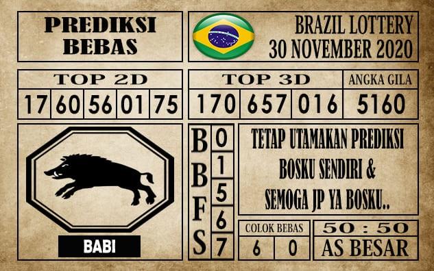Prediksi Brazil Lottery Hari Ini 30 November 2020