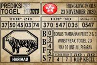 Prediksi Hongkong Pools Hari Ini 23 November 2020