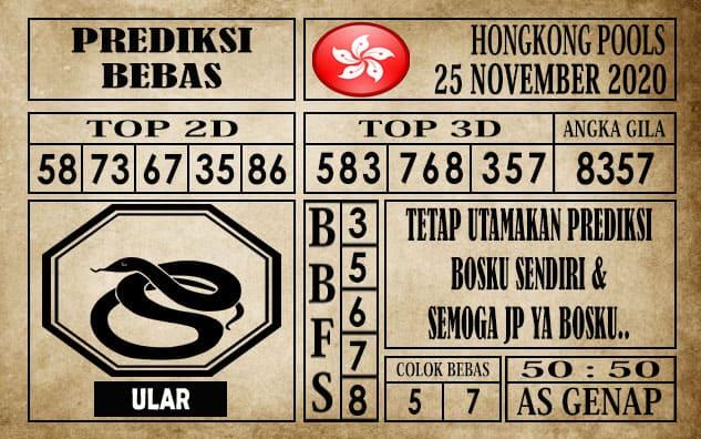 Prediksi Hongkong Pools Hari Ini 25 November 2020