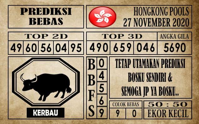 Prediksi Hongkong Pools Hari Ini 27 November 2020