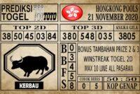 Prediksi Hongkong Pools Hari Ini 21 November 2020
