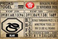 Prediksi Hongkong Pools Hari Ini 22 November 2020