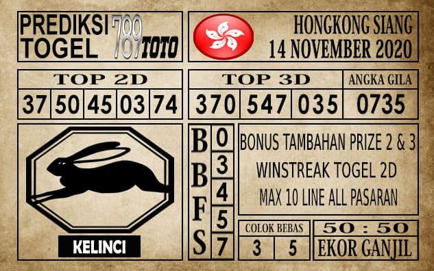 Prediksi Hongkong Siang Hari ini 14 November 2020