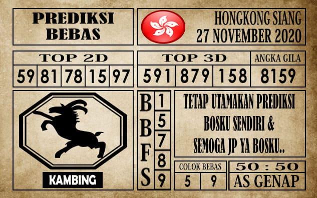 Prediksi Hongkong Siang Hari ini 27 November 2020