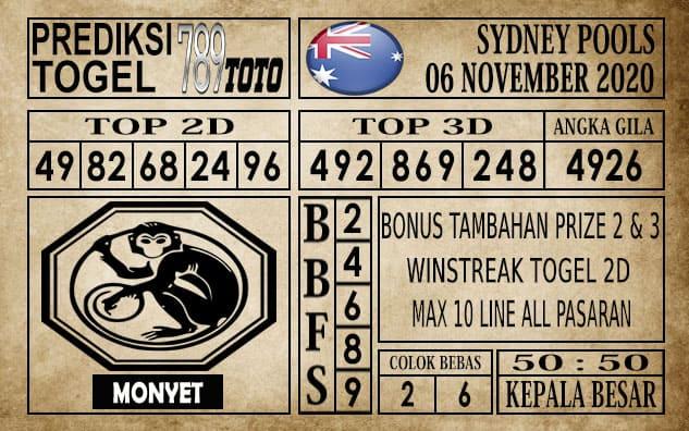 Prediksi Sydney Pools Hari ini 06 November 2020