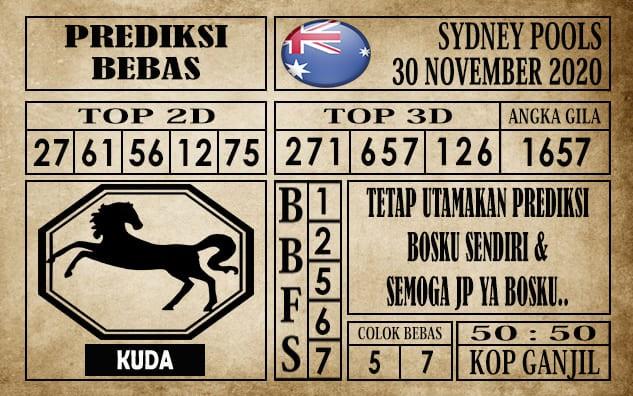 Prediksi Sydney Pools Hari ini 30 November 2020