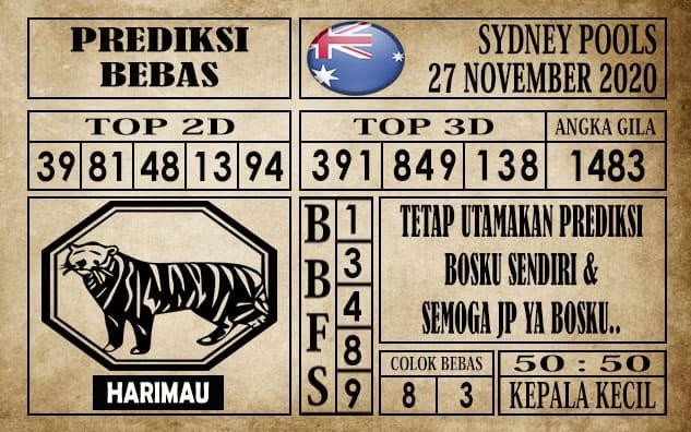 Prediksi Sydney Pools Hari ini 27 November 2020