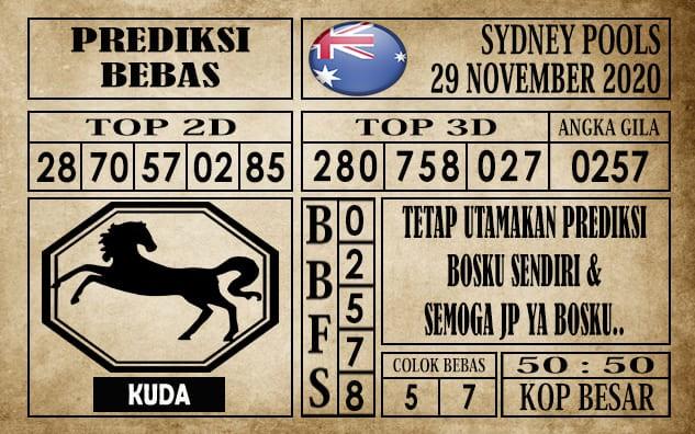 Prediksi Sydney Pools Hari ini 29 November 2020