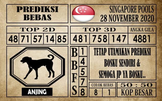 Prediksi Singapore Pools Hari ini 28 November 2020