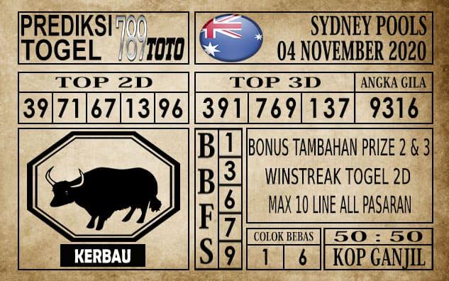 Prediksi Sydney Pools Hari ini 04 November 2020