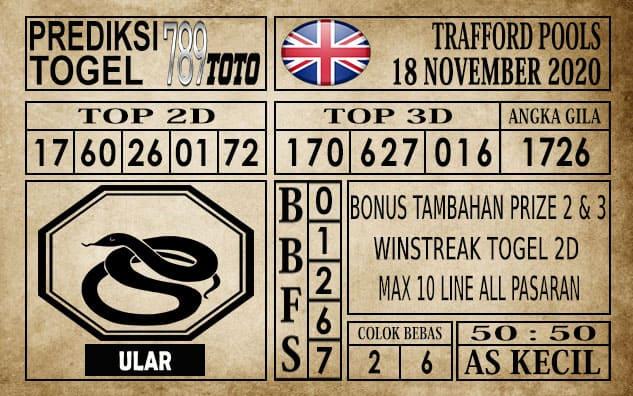 Prediksi Trafford Pools Hari Ini 18 November 2020
