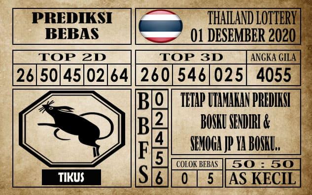 Prediksi Thailand Lottery Hari Ini 01 Desember 2020
