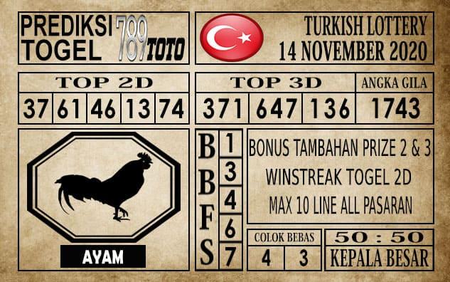 Prediksi Turkish Lottery Hari ini 14 November 2020