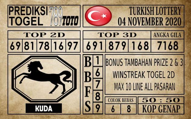 Prediksi Turkish Lottery Hari ini 04 November 2020