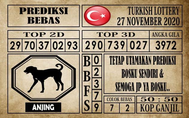 Prediksi Turkish Lottery Hari ini 27 November 2020
