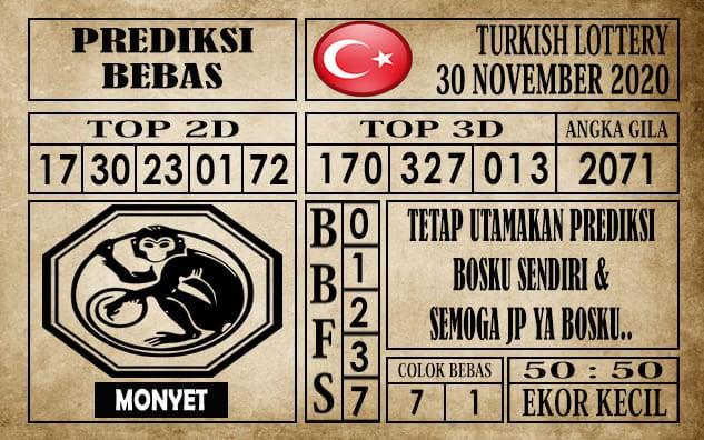 Prediksi Turkish Lottery Hari ini 30 November 2020