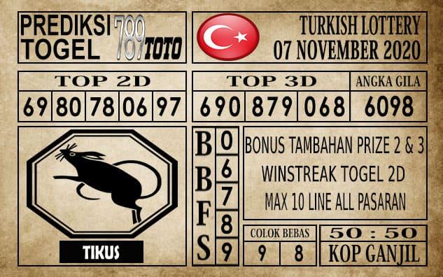 Prediksi Turkish Lottery Hari ini 07 November 2020