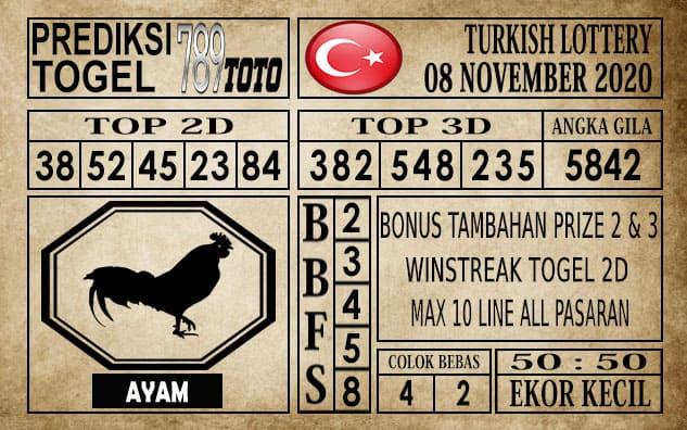 Prediksi Turkish Lottery Hari ini 08 November 2020