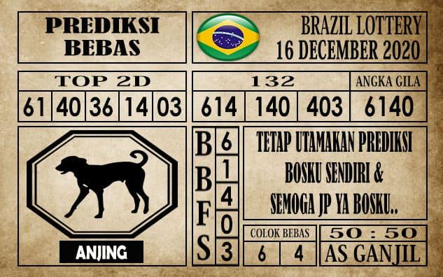Prediksi Brazil Lottery Hari Ini 16 Desember 2020