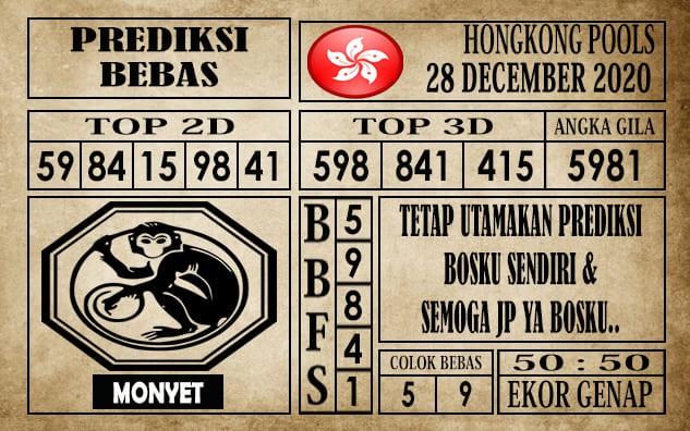 Prediksi Hongkong Pools Hari Ini 28 Desember 2020