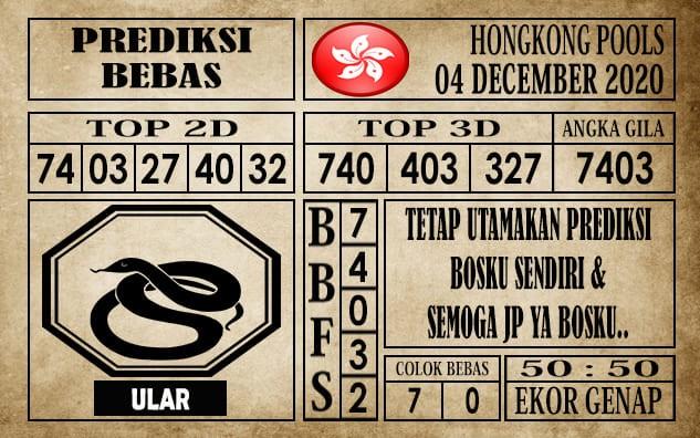 Prediksi Hongkong Pools Hari Ini 04 Desember 2020
