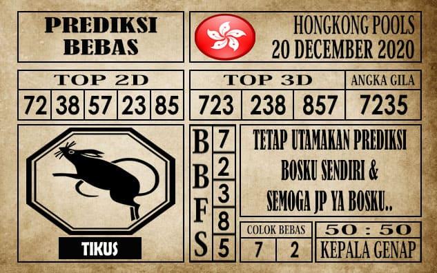 Prediksi Hongkong Pools Hari Ini 20 Desember 2020
