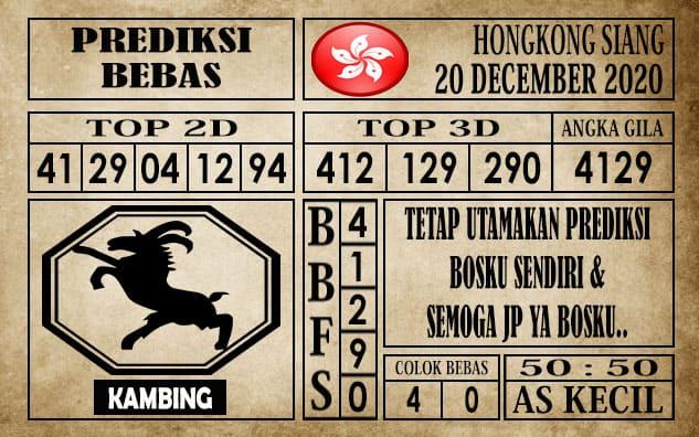 Prediksi Hongkong Siang Hari Ini 20 Desember 2020