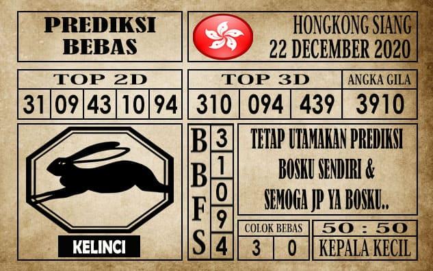 Prediksi Hongkong Siang Hari Ini 22 Desember 2020