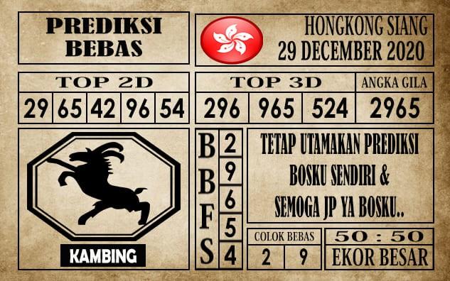 Prediksi Hongkong Siang Hari Ini 29 Desember 2020