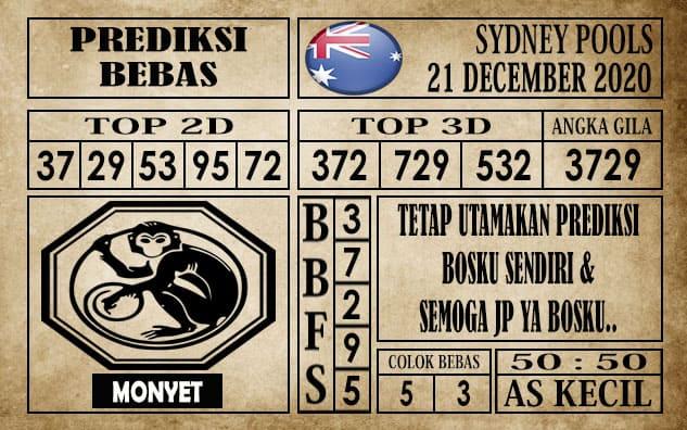 Prediksi Sydney Pools Hari Ini 21 Desember 2020
