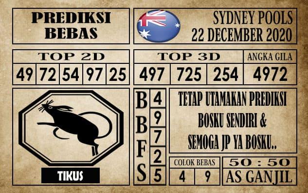 Prediksi Sydney Pools Hari Ini 22 Desember 2020