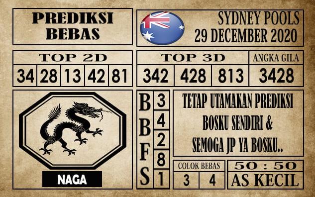 Prediksi Sydney Pools Hari Ini 29 Desember 2020