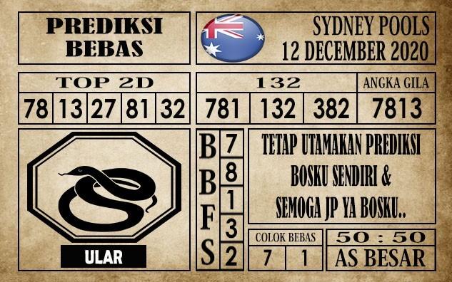 Prediksi Sydney Pools Hari Ini 12 Desember 2020