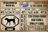 Prediksi Sydney Pools Hari Ini 03 Desember 2020