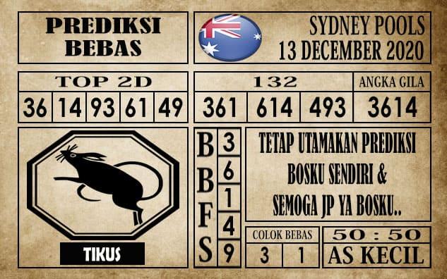 Prediksi Sydney Pools Hari Ini 13 Desember 2020